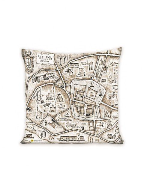madeinviadana - mappa antica - cuscino