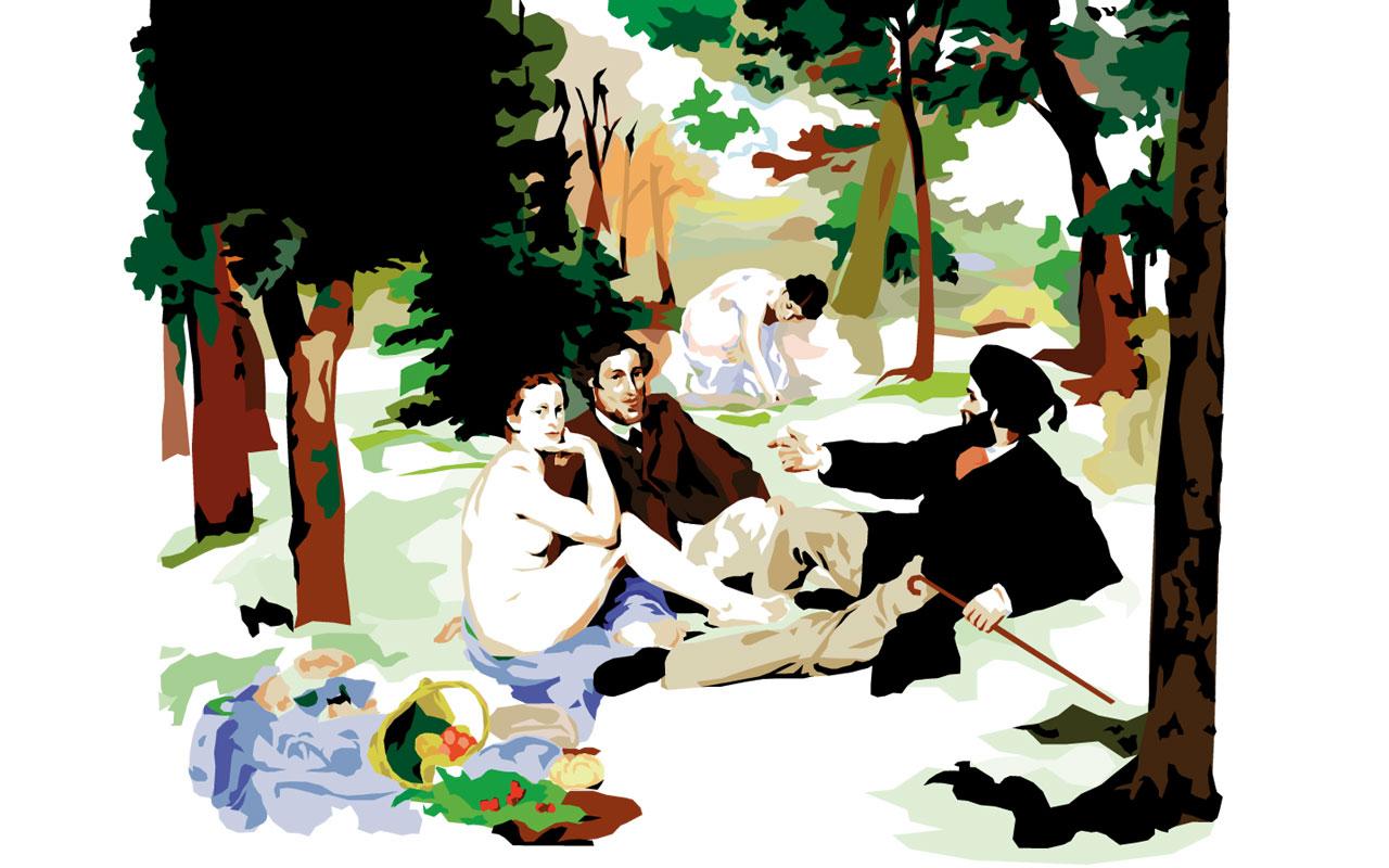 Studio Badini Createam: le dejeuner sur l herbe - Manet