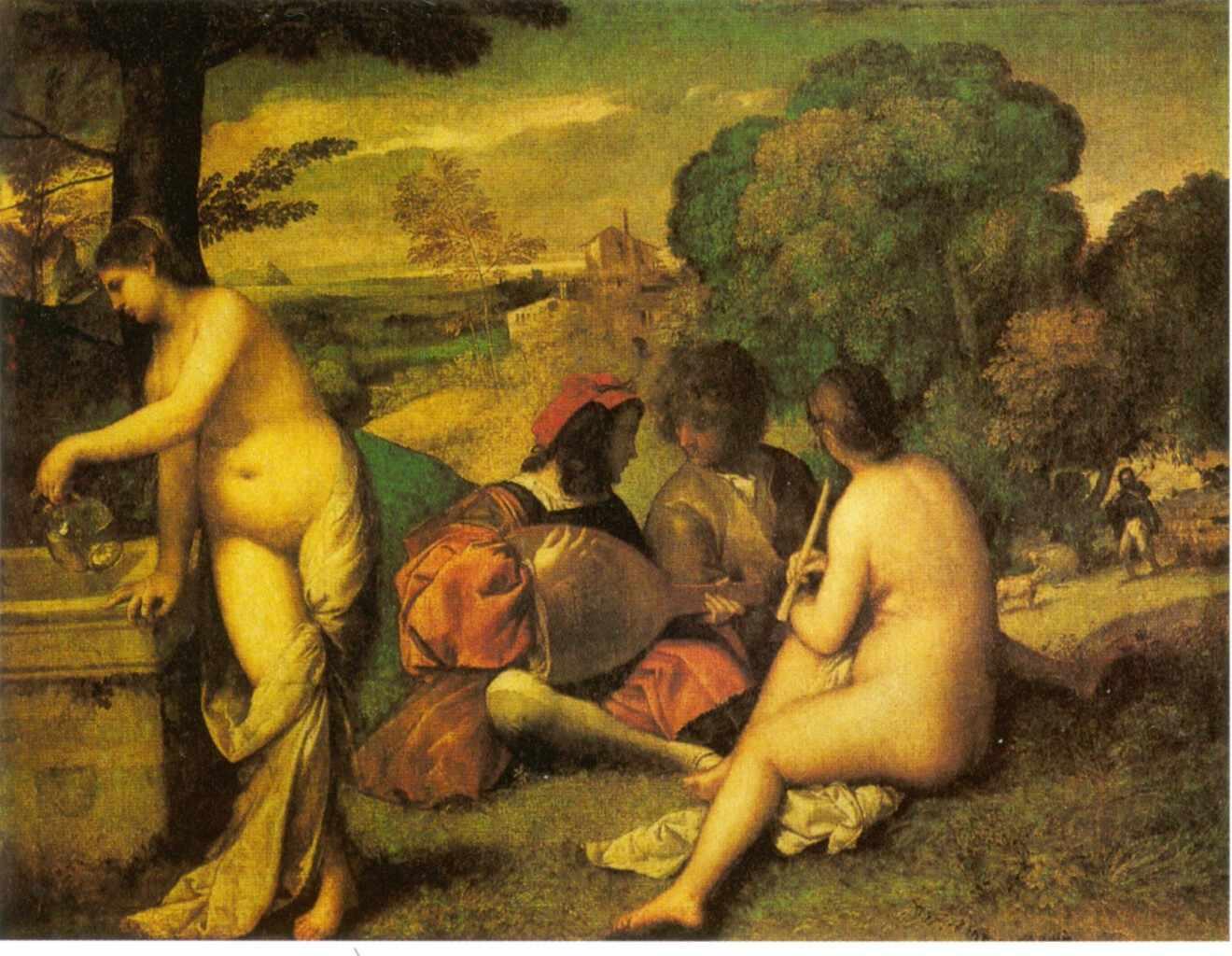 Studio Badini Createam: le dejeuner sur l herbe - Giorgione - Le concert champetre