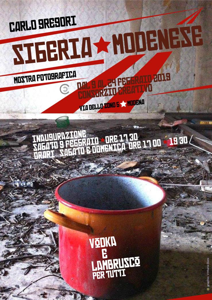 Badini - Siberia Modenese - Locandina mostra fotografica